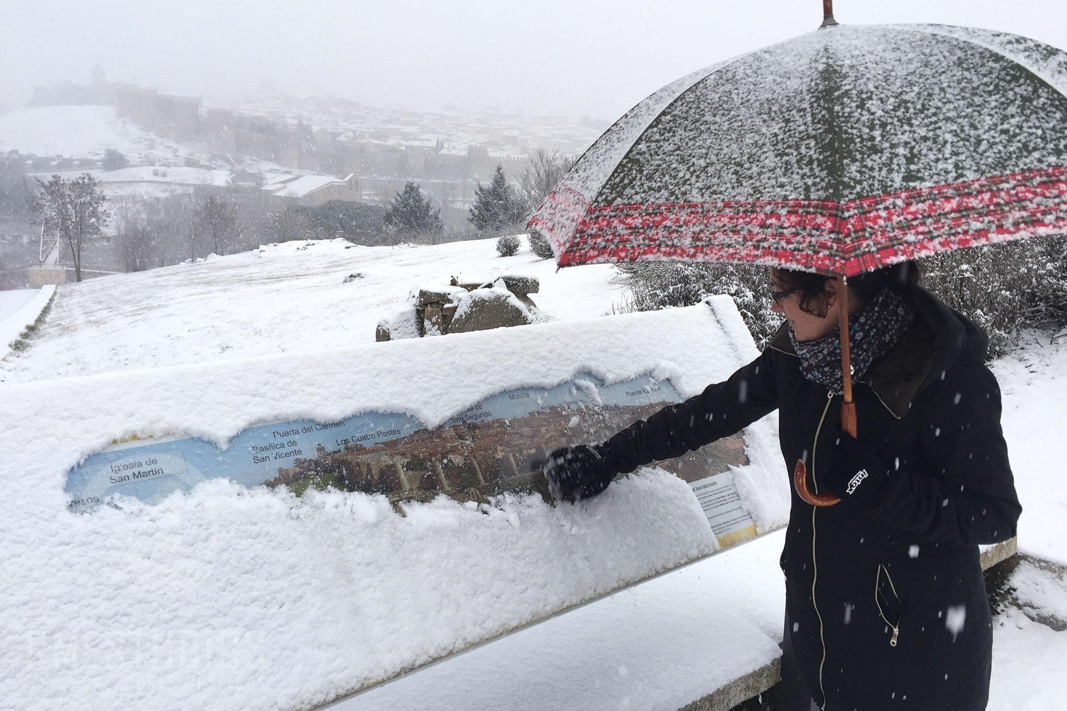Nieve en Avila