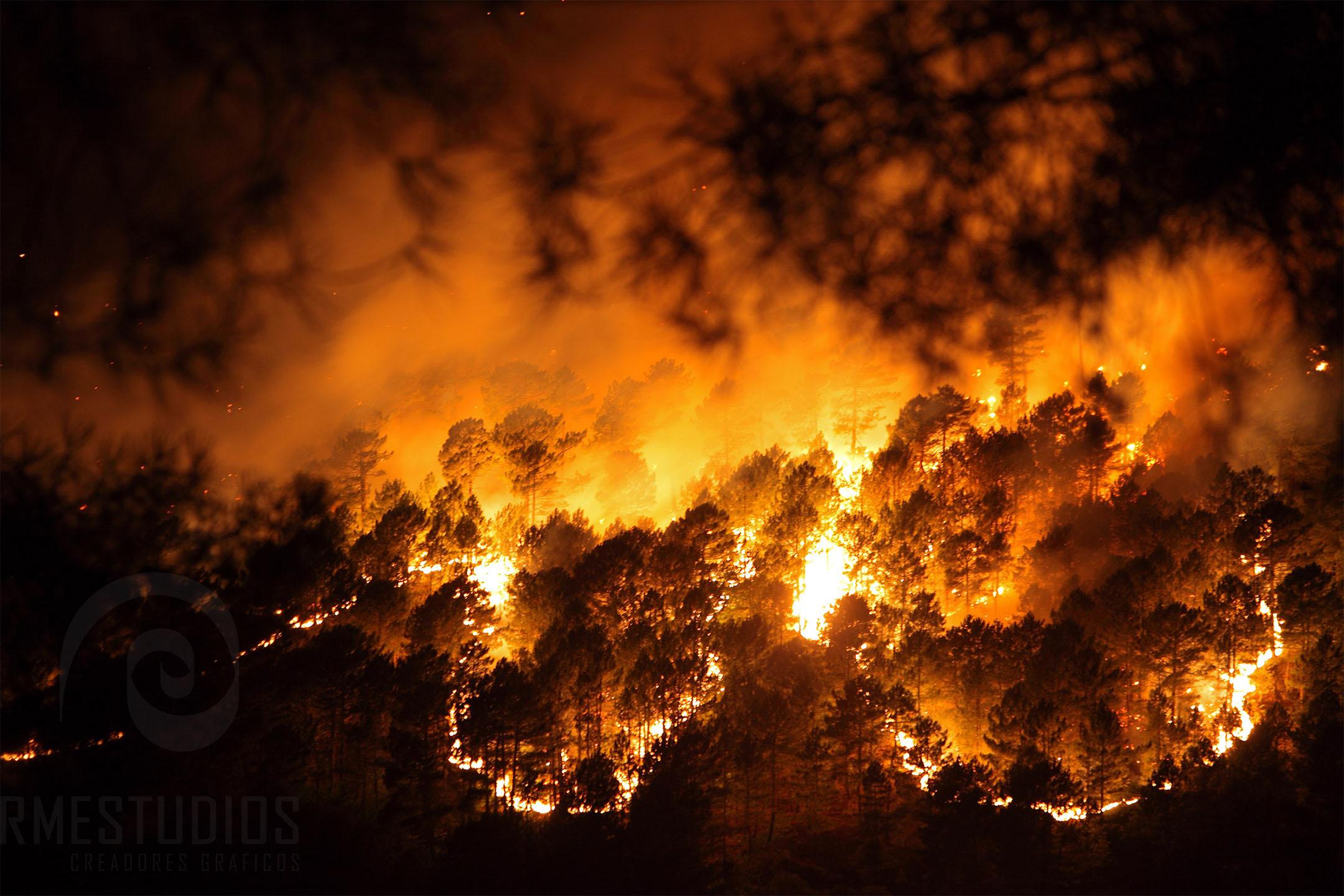 Incendio en el Valle del Tietar